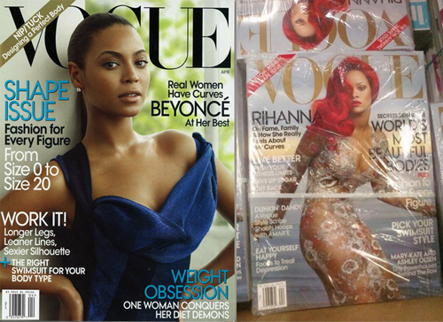 Vogue Shape Issues - Beyonce & Rihanna