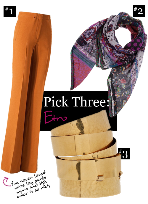 Pick Three: Etro