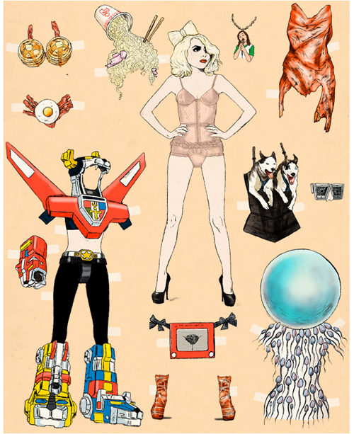 GQ's Lady Gaga Paper Doll