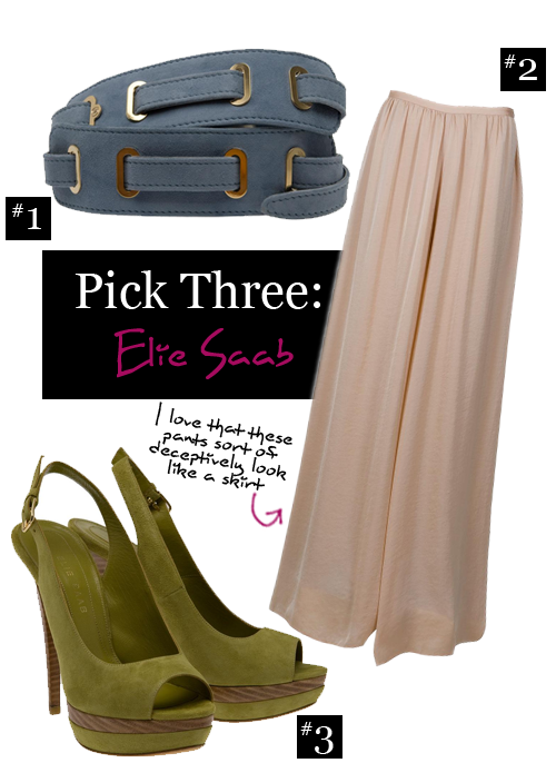Pick Three: Elie Saab