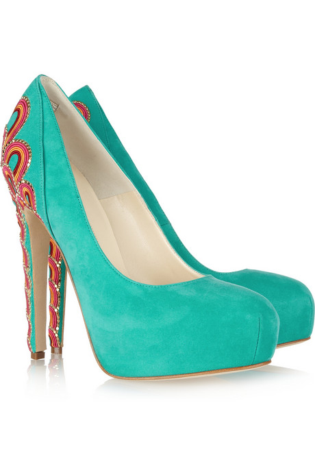 Brian Atwood Suede Pumps